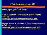 epa resources on ceh