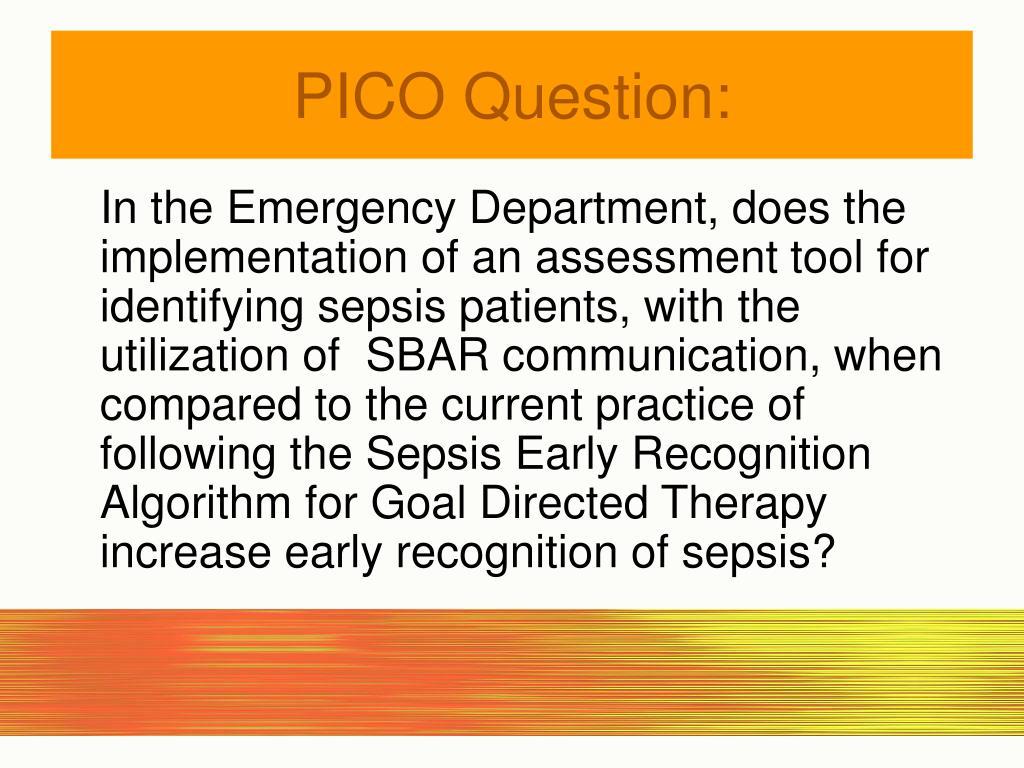 PICO Question: