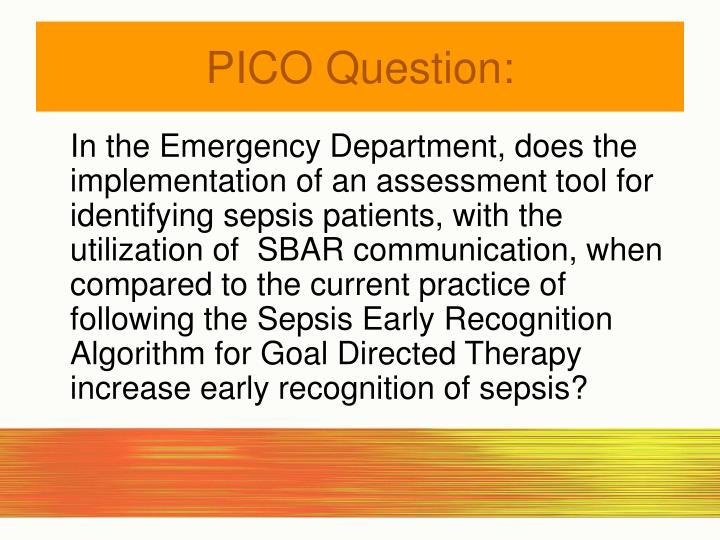 Pico question