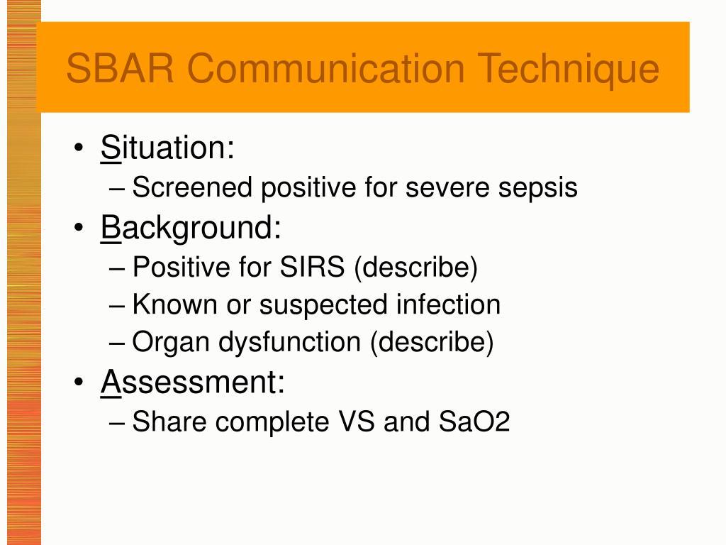 SBAR Communication Technique