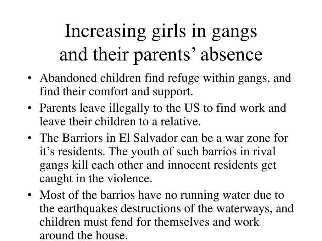 Increasing girls in gangs