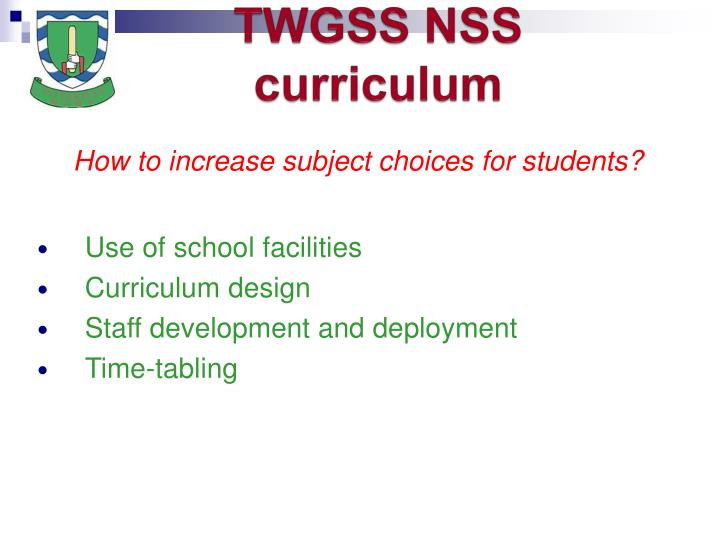 Twgss nss curriculum3