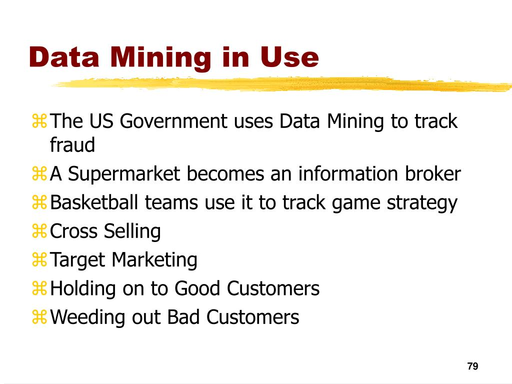 Data Mining in Use