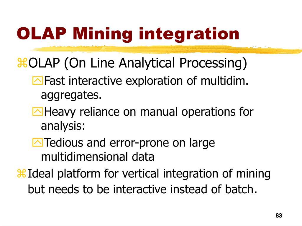 OLAP Mining integration