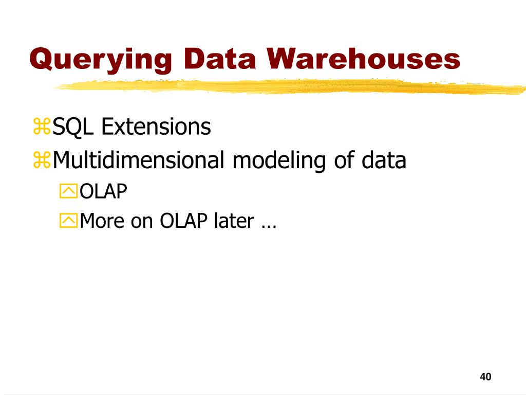 Querying Data Warehouses