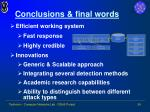 conclusions final words