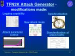 tfn2k attack generator modifications made