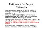 rationales for deposit insurance