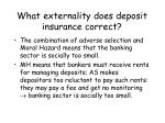 what externality does deposit insurance correct