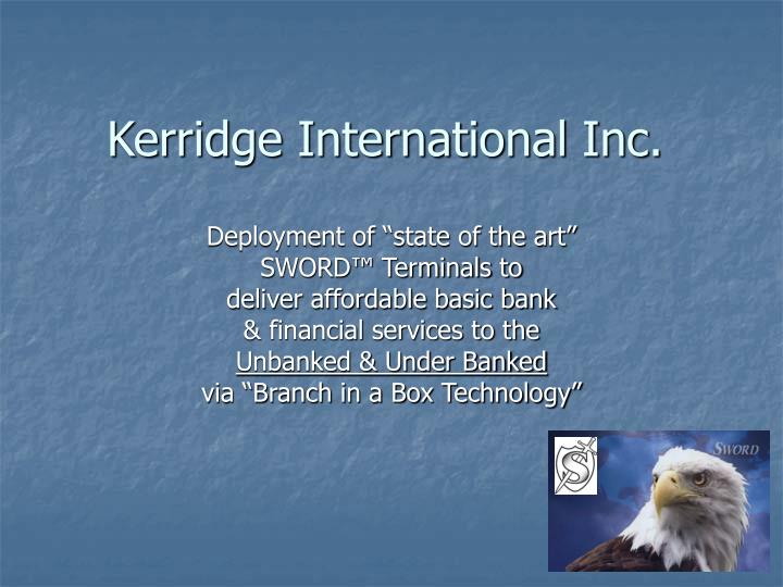 Kerridge International Inc.