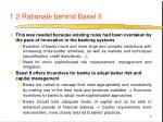 1 2 rationale behind basel ii