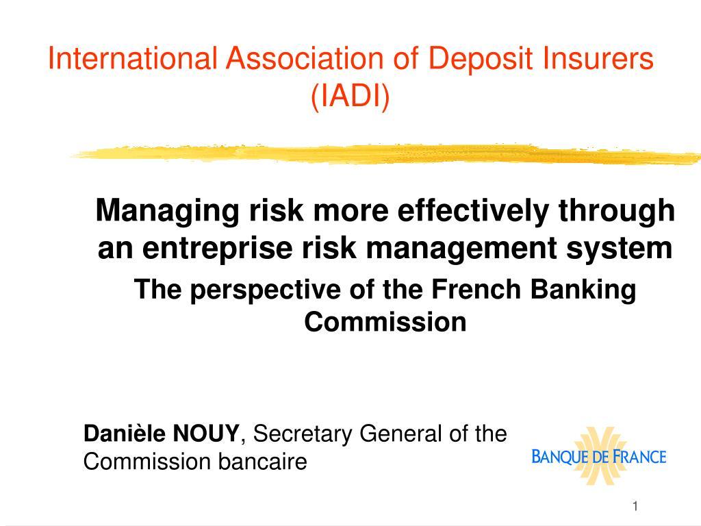 international association of deposit insurers iadi