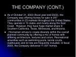 the company cont