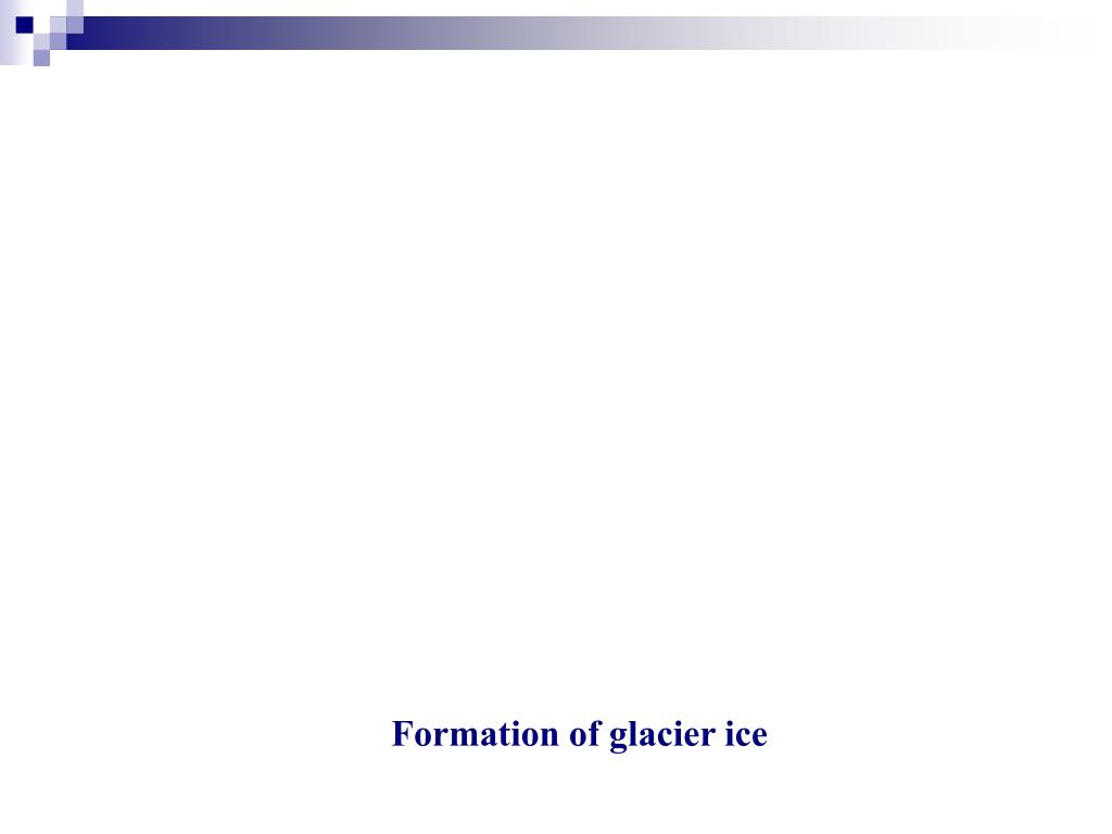 Formation of glacier ice