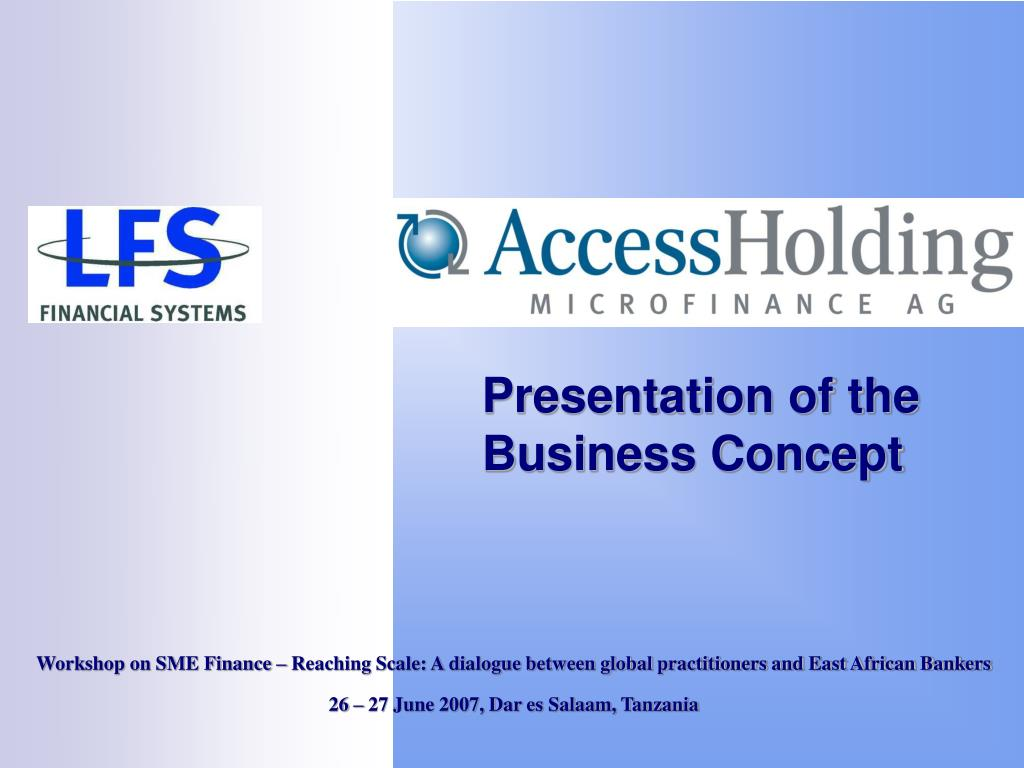 presentation of the business concept l.