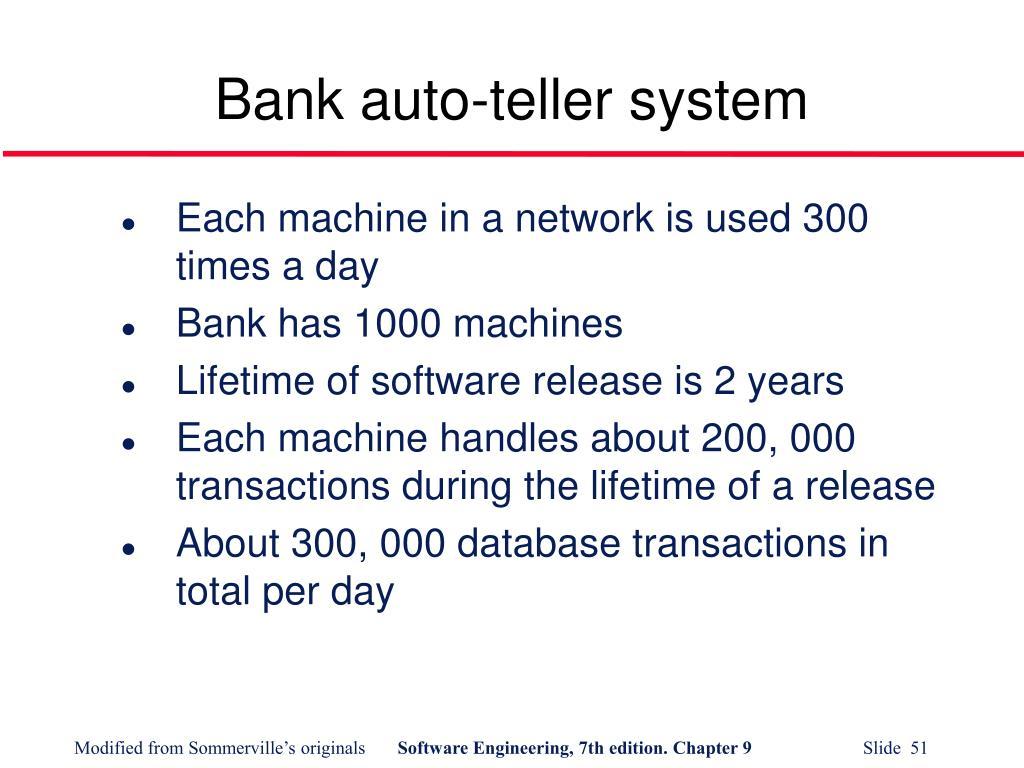 Bank auto-teller system
