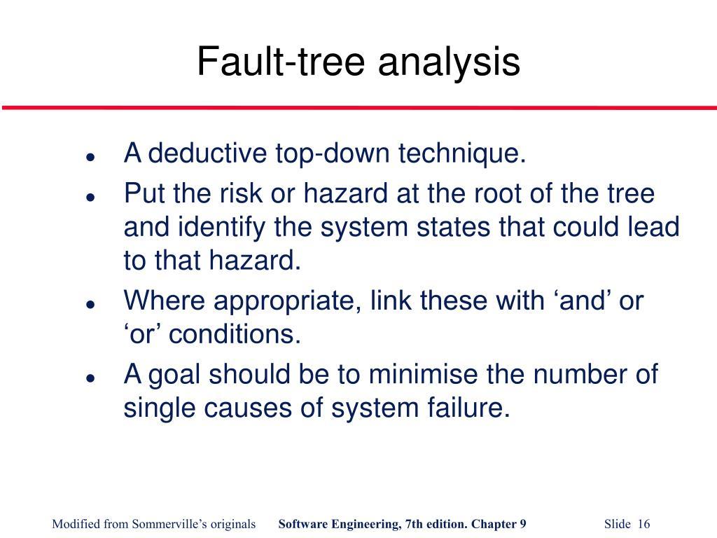 Fault-tree analysis