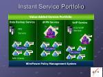 instant service portfolio