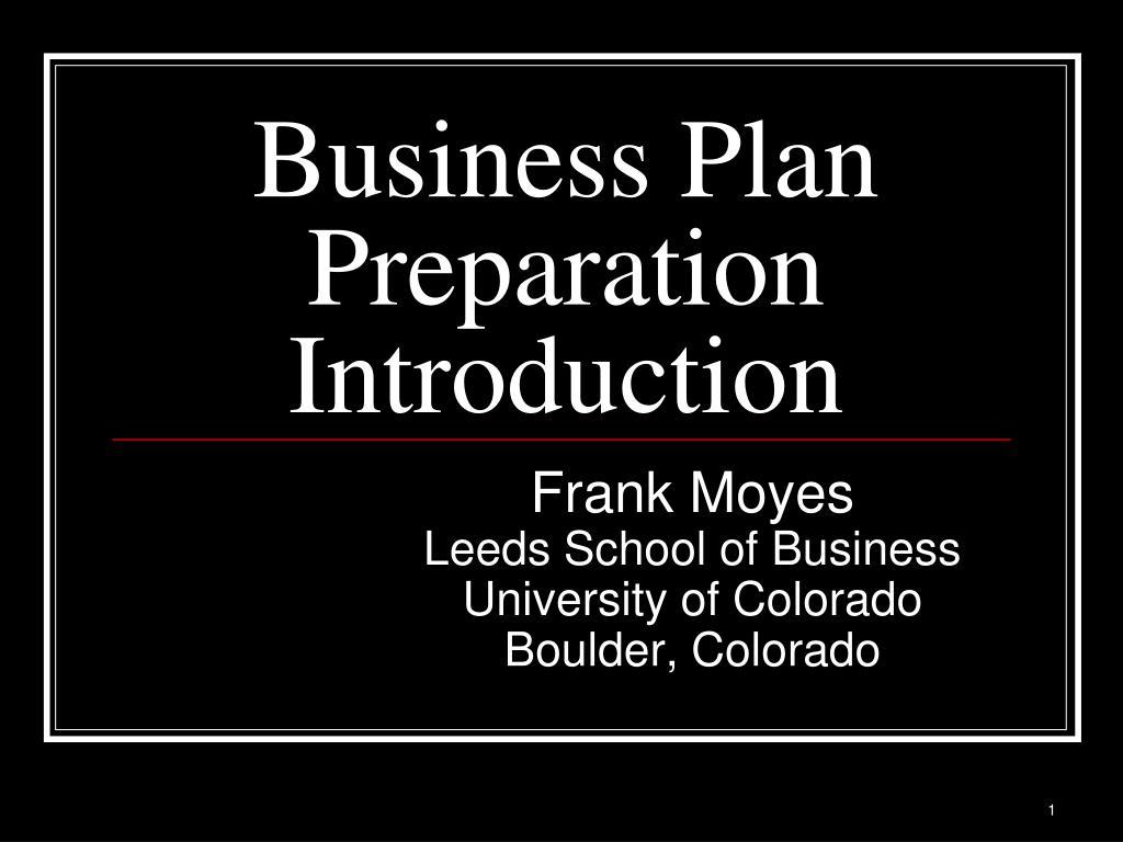 business plan preparation introduction l.