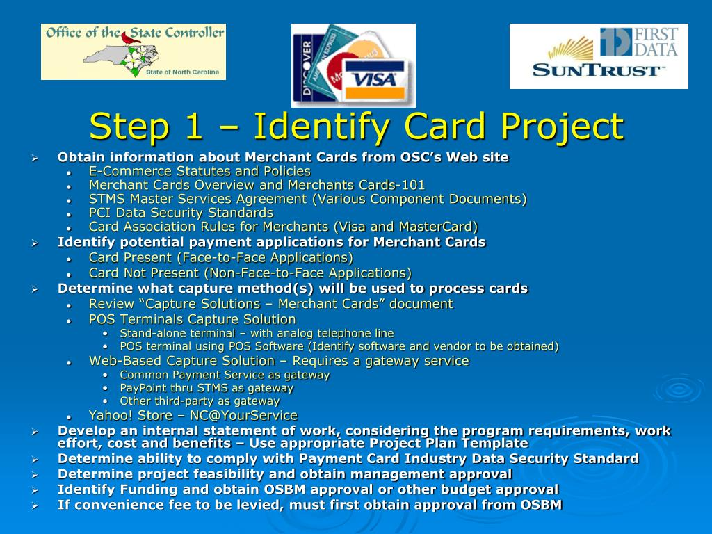 Step 1 – Identify Card Project