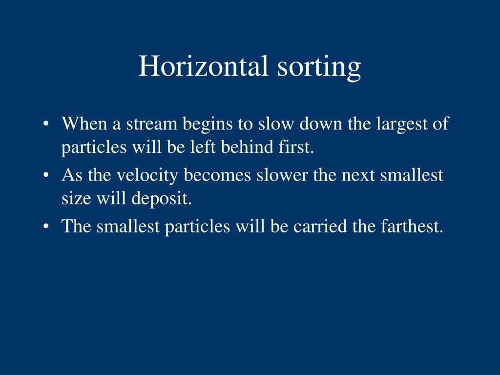 Horizontal sorting