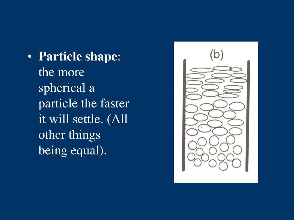 Particle shape