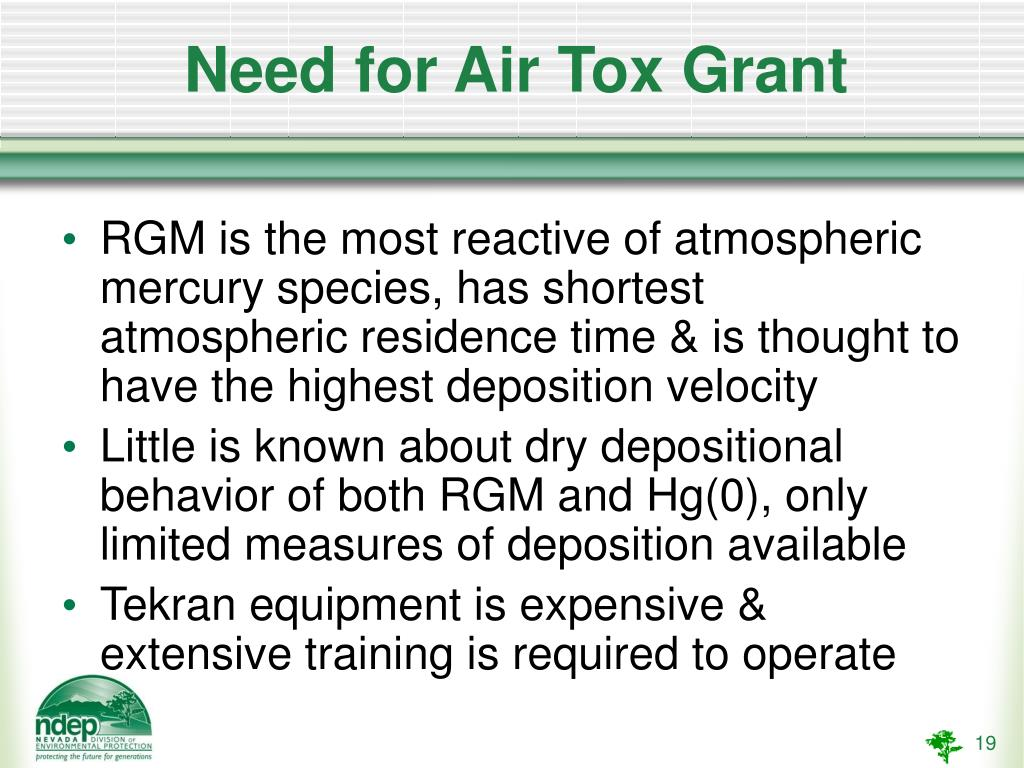 Need for Air Tox Grant