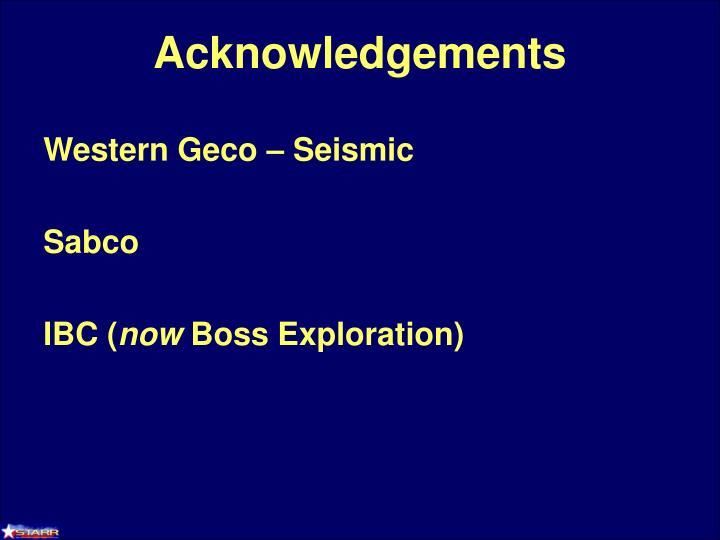 Western Geco – Seismic