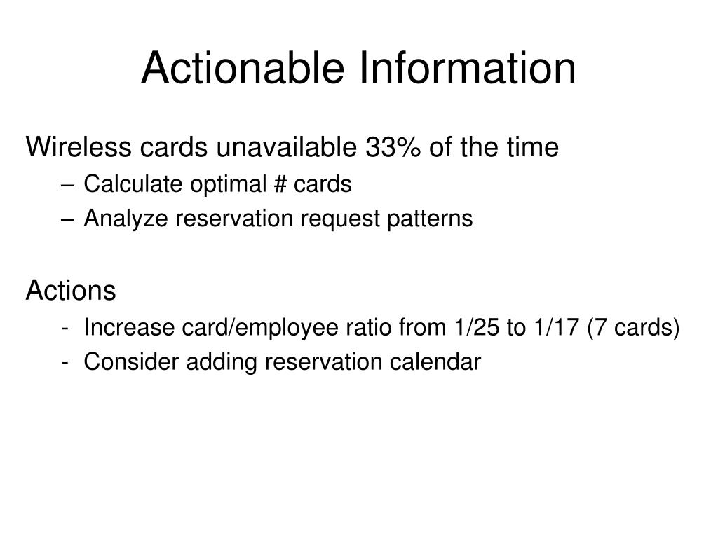 Actionable Information