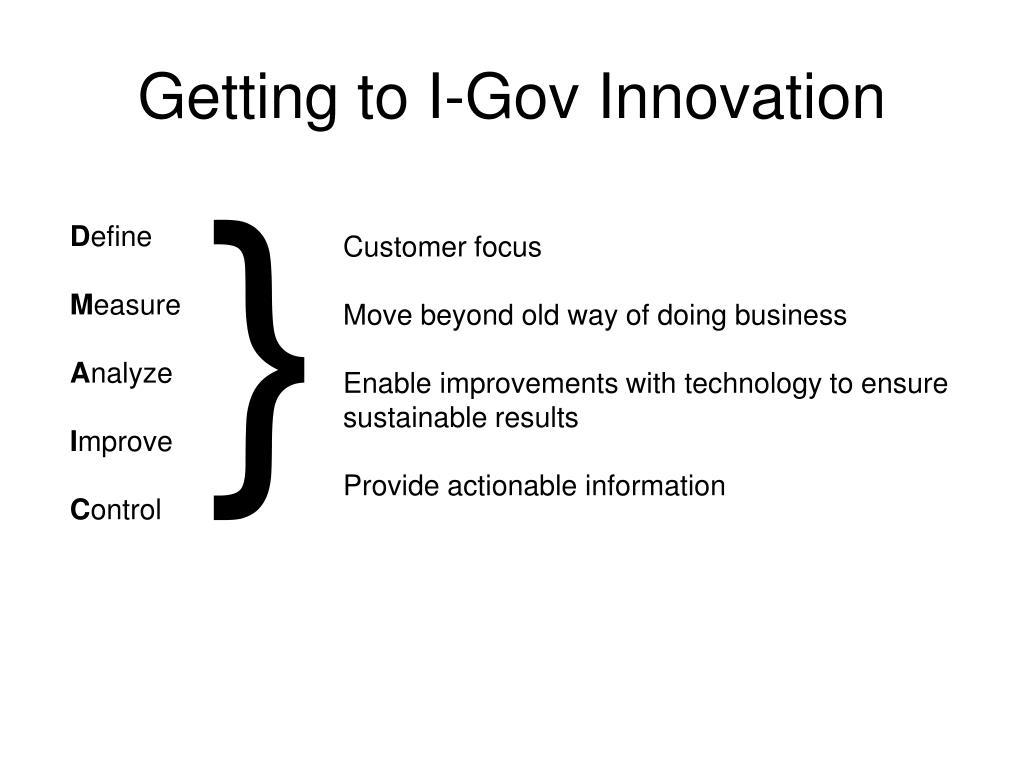 Getting to I-Gov Innovation