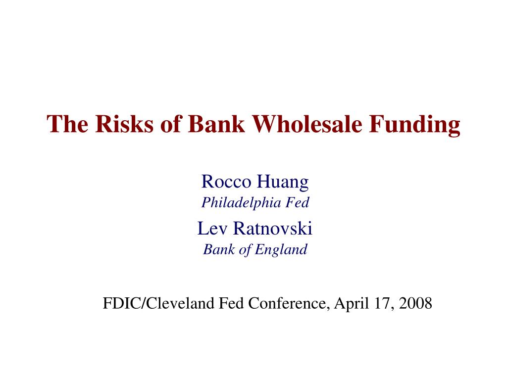 The Risks of Bank Wholesale Funding