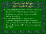 craving and relapse functional changes