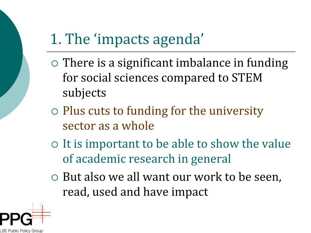 1. The 'impacts agenda'