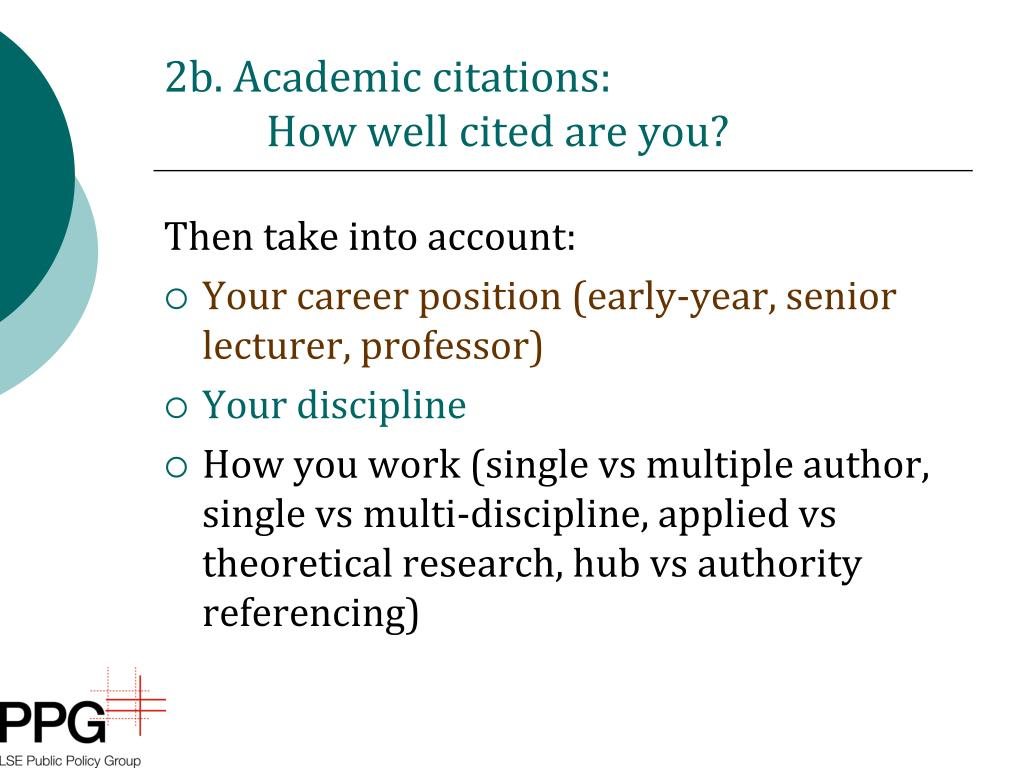 2b. Academic citations: