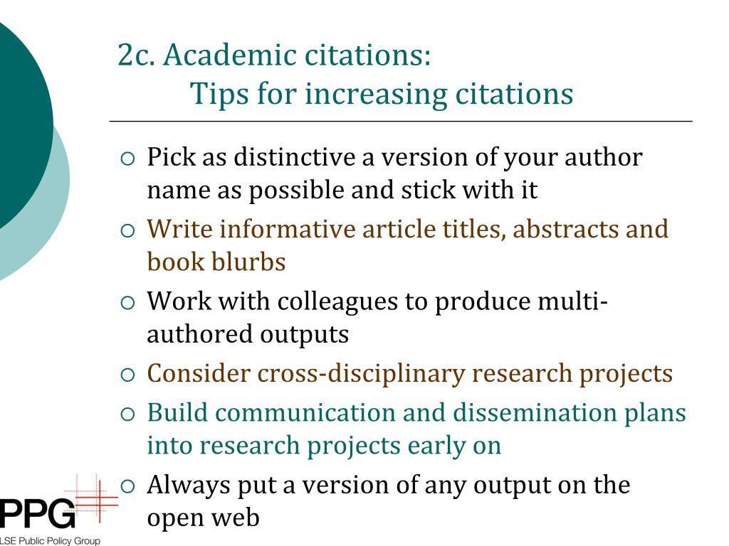 2c. Academic citations:
