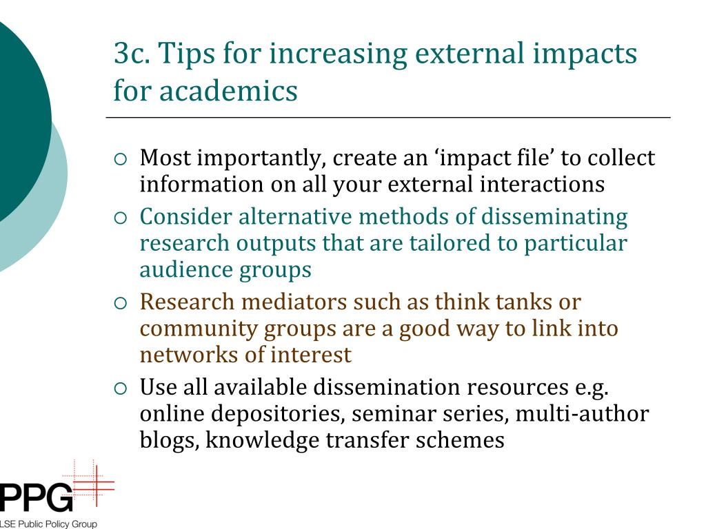 3c. Tips for increasing external impacts for academics