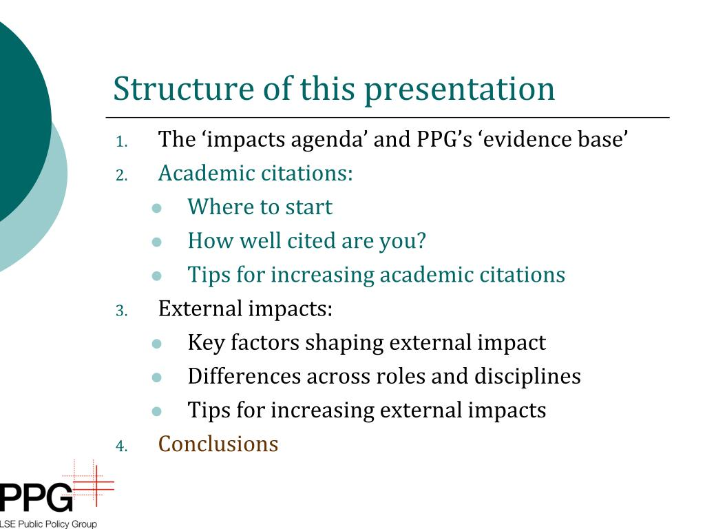 Structure of this presentation