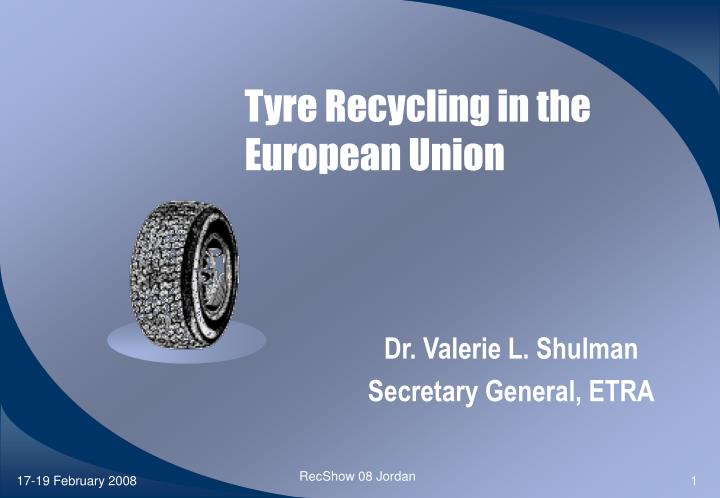 tyre recycling in the european union