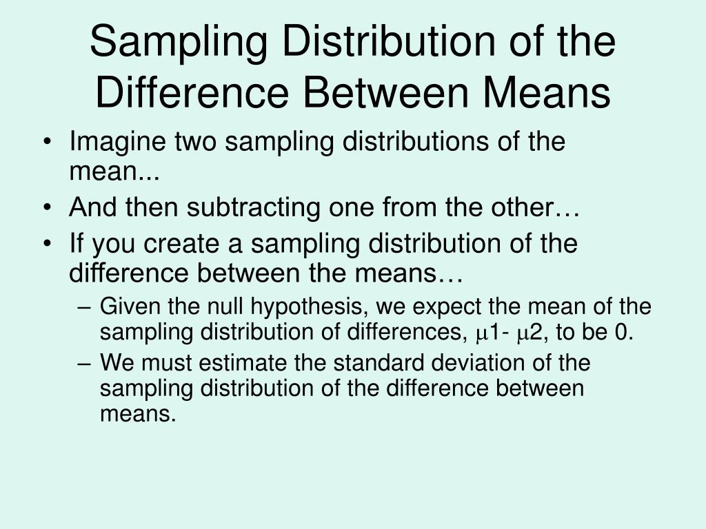 Sampling Distribution of the Difference Between Means