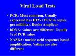 viral load tests