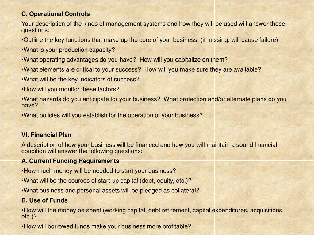 C. Operational Controls