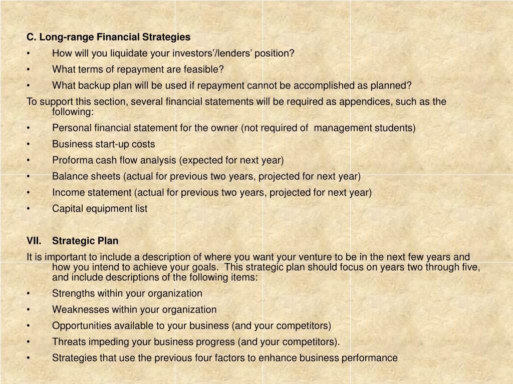 C. Long-range Financial Strategies