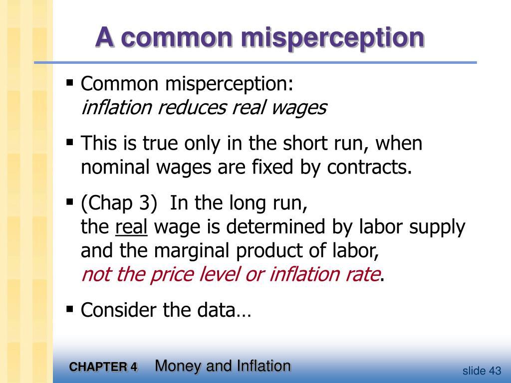 A common misperception