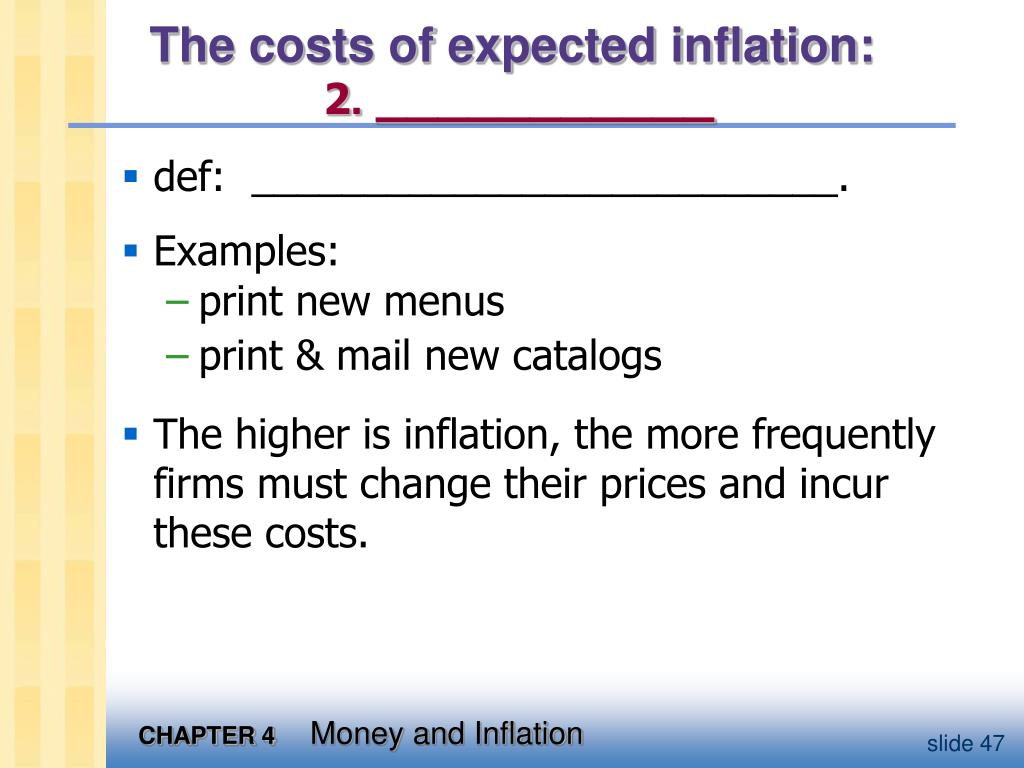 The costs of expected inflation: