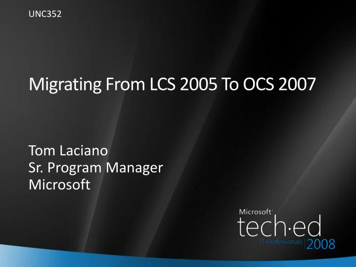migrating from lcs 2005 to ocs 2007