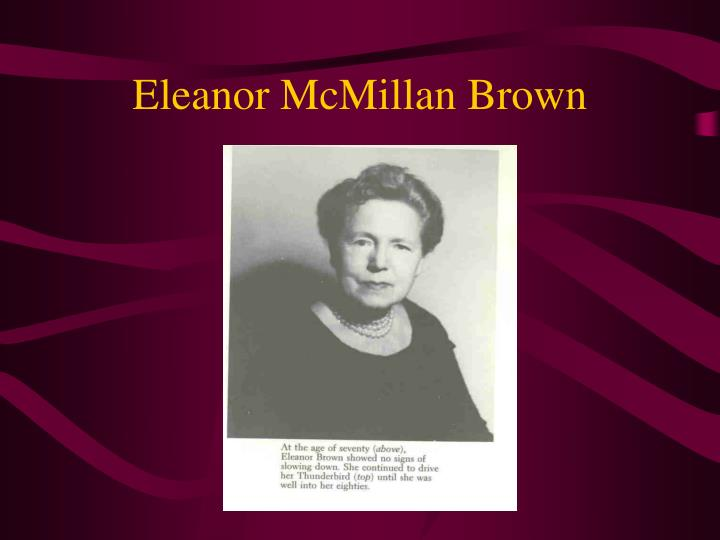 Eleanor McMillan Brown