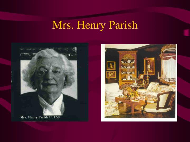 Mrs. Henry Parish