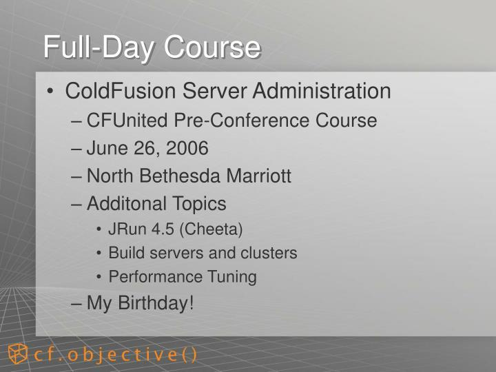 Full-Day Course