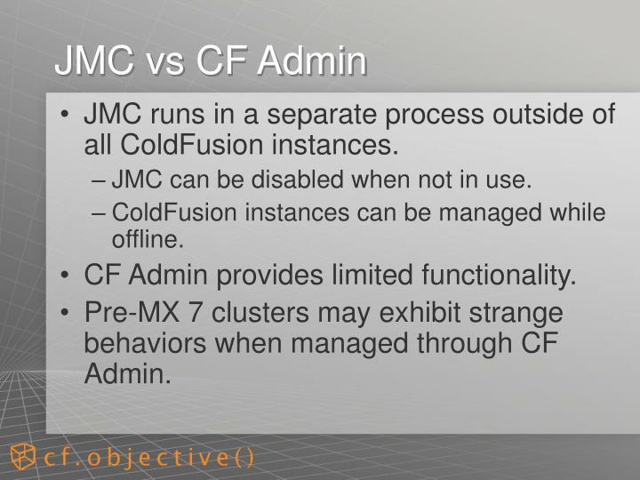 JMC vs CF Admin