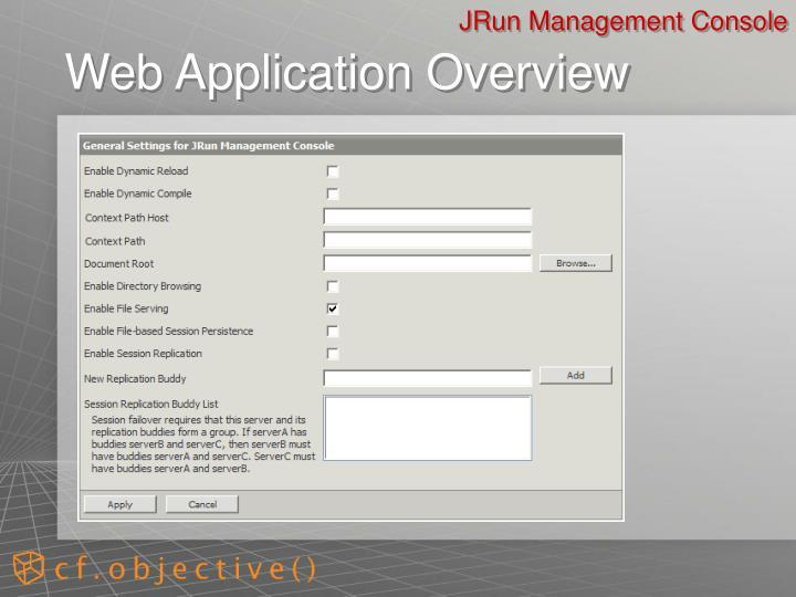 JRun Management Console
